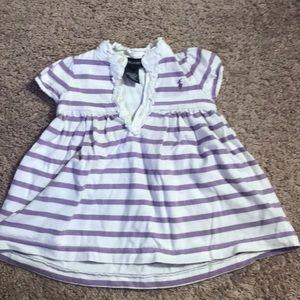 Cute purple and white stripe dress